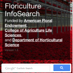 NCSU Floriculture InfoSearch screen