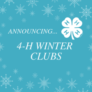 Announcing 4-H Winter Clubs Polk County NC