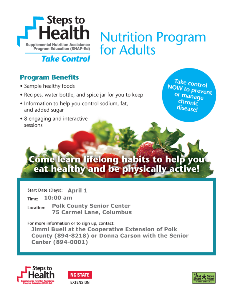 Steps to Health Flyer