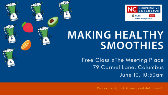 Making Smoothies Class Announced