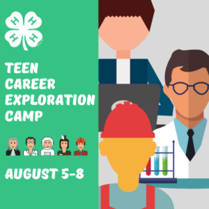 Cover photo for This Summer: 4-H Teen Career Exploration Camp
