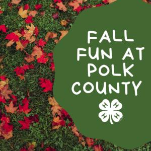 2019 Fall Registration Polk County 4-H
