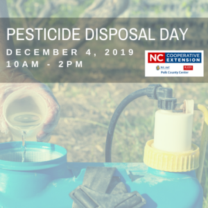 Free Pesticide Disposal Event