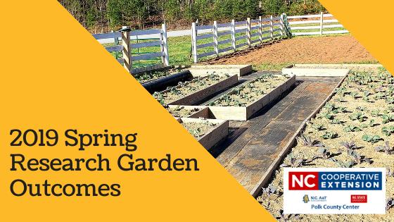 2019 Spring Research Garden Outcomes for Polk
