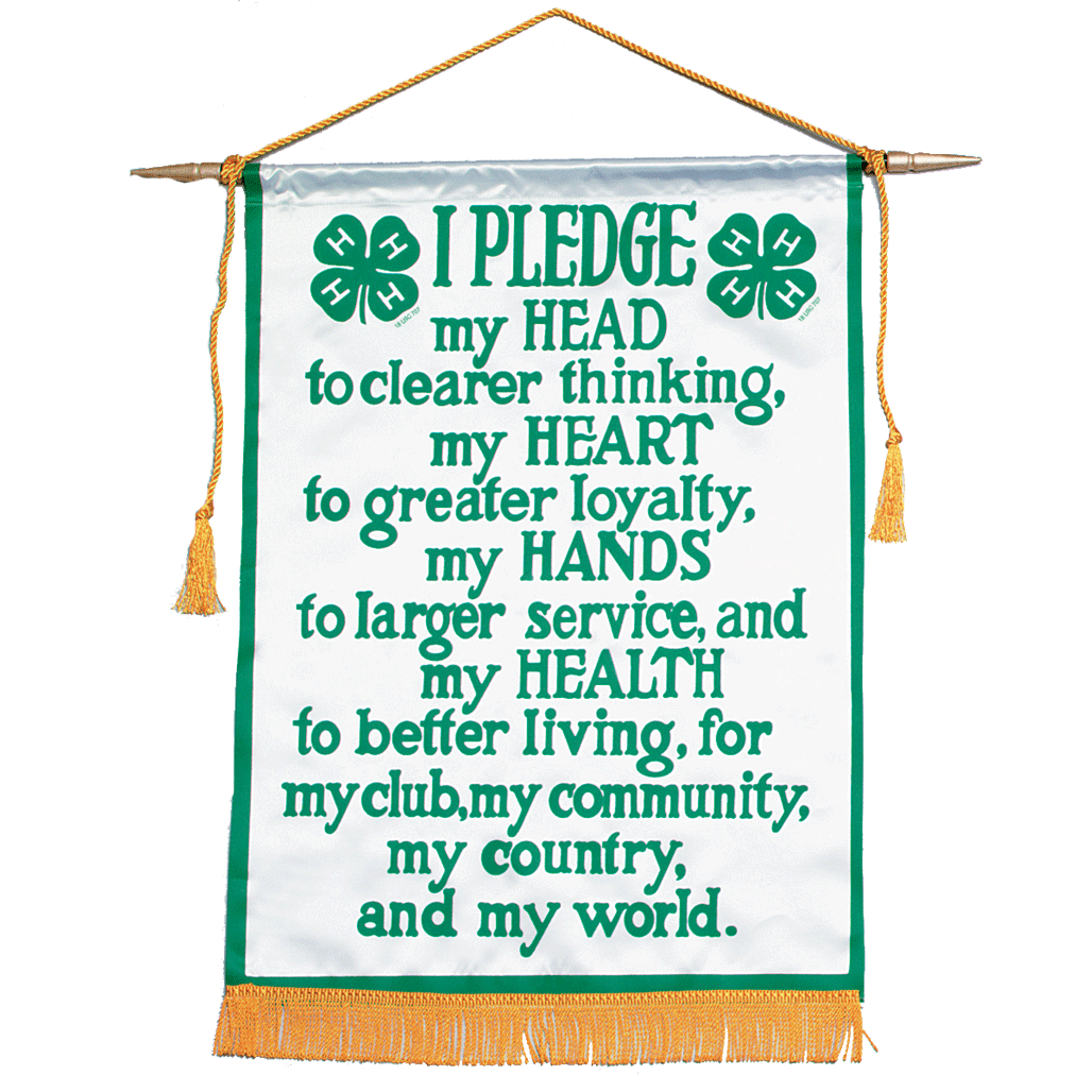 4-H Pledge Head Hands Heart Health