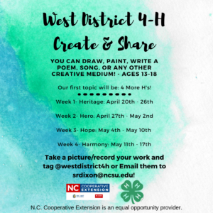 Cover photo for Share Your Creativity With Your Fellow 4-H'ers