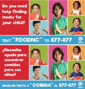 Cover photo for Meal Locator Resource for Parents in NC