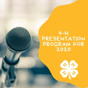 4-H Presentation Program 2020 Featured