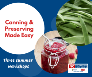 Polk County NC canning classes