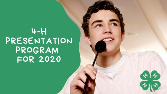 4-H Presentation Program 2020