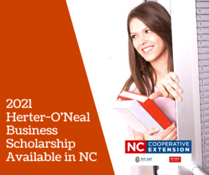 Cover photo for 2021 Herter-O'Neal Business Scholarship Available in NC