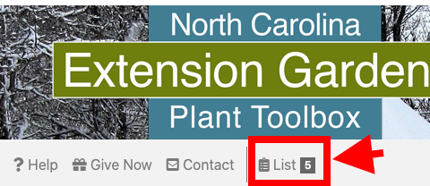 Plant shopping list app