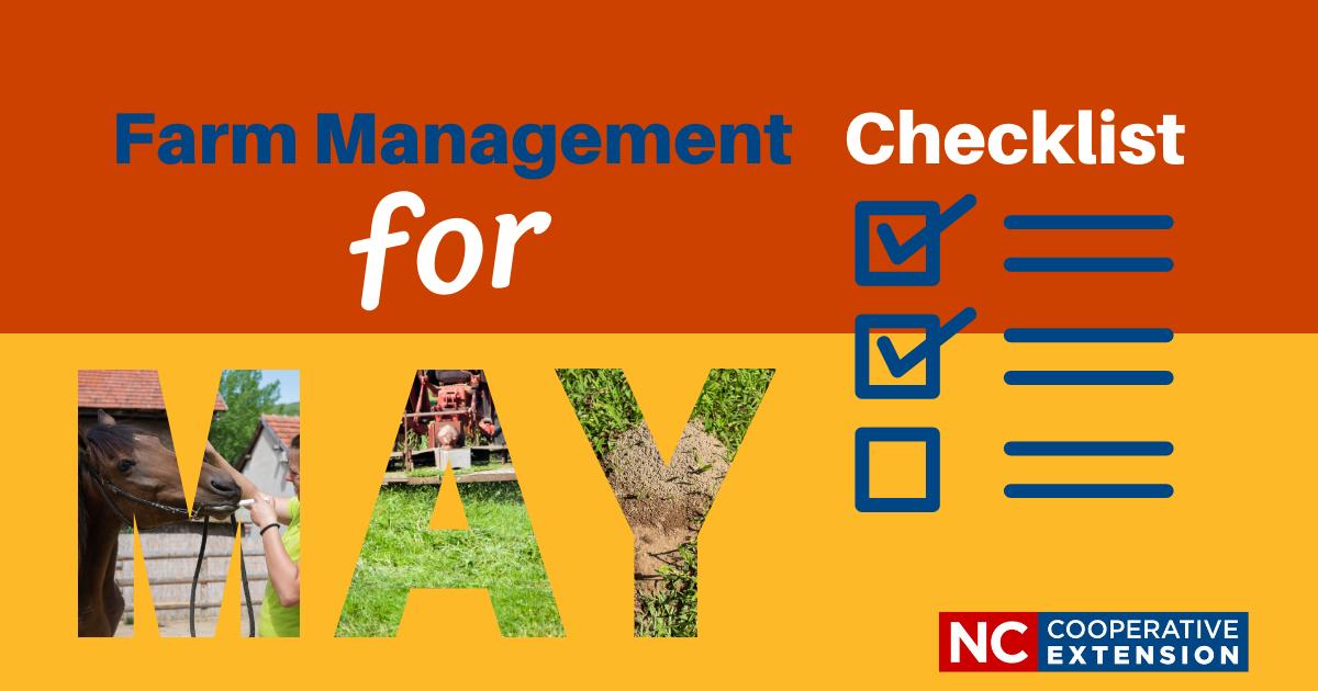 Farm Management Checklist - May