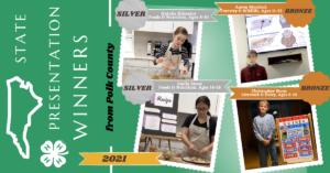 4-H State Presentation Winners - Polk County - 2021